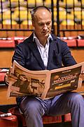 DESCRIZIONE : Supercoppa 2015 Semifinale Dinamo Banco di Sardegna Sassari - Grissin Bon Reggio Emilia<br /> GIOCATORE : Federico Mangiacotti Gazzetta dello Sport<br /> CATEGORIA : Ritratto Before Pregame<br /> SQUADRA : Beko<br /> EVENTO : Supercoppa 2015<br /> GARA : Dinamo Banco di Sardegna Sassari - Grissin Bon Reggio Emilia<br /> DATA : 26/09/2015<br /> SPORT : Pallacanestro <br /> AUTORE : Agenzia Ciamillo-Castoria/L.Canu