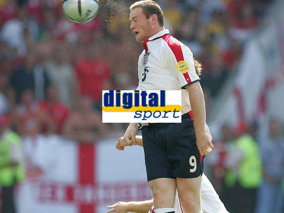Fotball, 17. juni 2004, EM, Euro 2004, Sveits- England, Tor zum 1:0 von Wayne ROONEY England<br /> Foto: Digitalsport