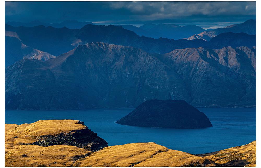 Lake Wanaka from Treble Cone, Otago.