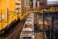 RTD Light Rail train, LoDo (Lower Downtown) Denver, Colorado USA.