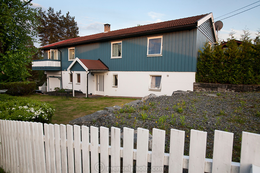 The single family home of the Qureshi family of Lorenskog, Norway, an Oslo suburb.