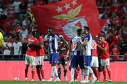 October 7, 2018 - Lisbon, Portugal - Porto's players reacts after the Portuguese League football match SL Benfica vs FC Porto at the Luz stadium in Lisbon on October 7, 2018. (Benfica won 1-0. (Credit Image: © Pedro Fiuza/NurPhoto/ZUMA Press)