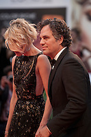 Actor Mark Ruffalo and Sunrise Coigney at the gala screening for the film Spotlight at the 72nd Venice Film Festival, Thursday September 3rd 2015, Venice Lido, Italy.