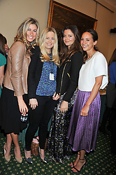 Left to right, JULIA IMMONEN, ASTRID HARBORD, LADY NATASHA RUFUS ISAACS and LAVINIA BRENNAN at a reception for The Mirela Fund in partnership with Hope and Homes for Children hosted by Natalie Pinkham in The Churchill Room, House of Commons, London on 30th April 2013.