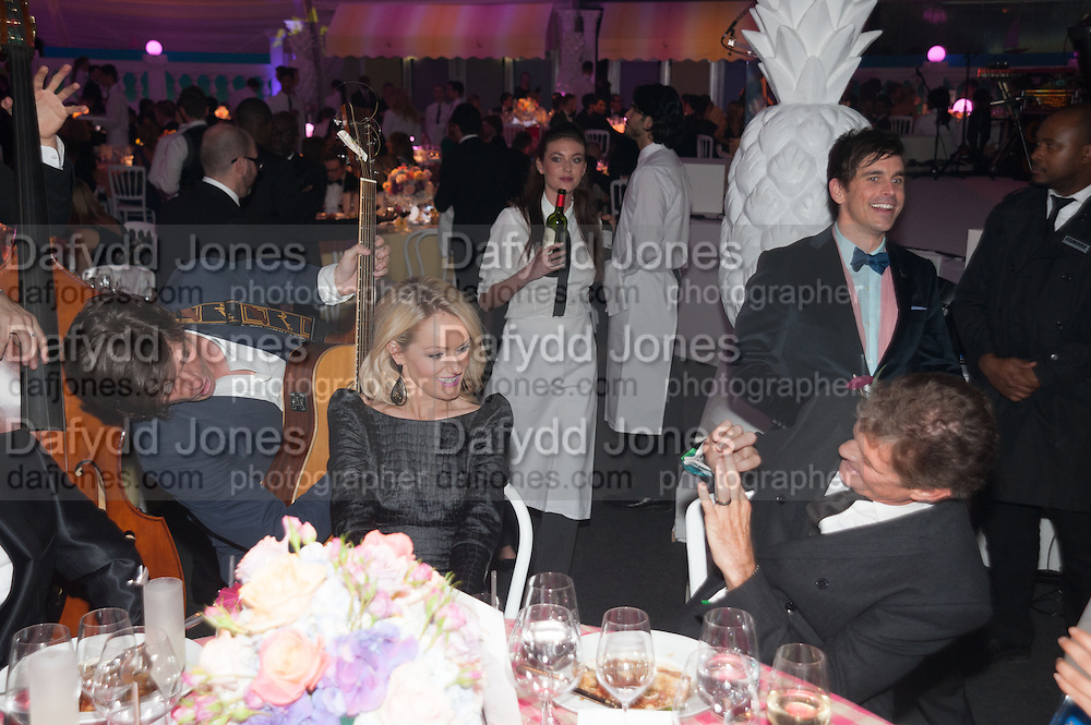 Hayley Roberts; David Hasselhoff;, Grey Goose Winter Ball to benefit the Elton John Aids Foundation. Battersea Power Station. London. 10 November 2012.