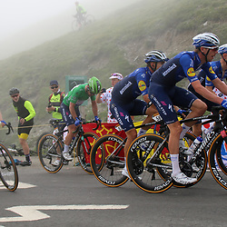 LUZ ARDIDEN (FRA) CYCLING: July 15<br /> 18th stage Tour de France Pau-Luz Ardiden<br /> Images from the Col du Tourmalet<br /> The Wolfpack with Mark Cavendish