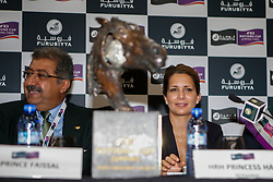 HRH Princess Haya (JOR), HRH Prince Faisal bin Abdullah bin Mohammed Al Saud <br /> Furusiyya FEI Nations Cup Jumping Final <br /> CSIO Barcelona 2013<br /> © Dirk Caremans