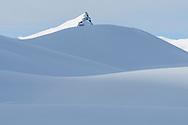 Schnee-Landschafts-Impressionen von einer Skitour auf den den Glatten im Muotatal. Markante Gipfelspitze des Seestock.