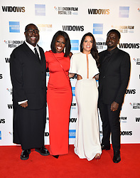 Steve McQueen, Viola Davis, Michelle Rodriguez and Daniel Kaluuya arriving for the 62nd BFI London Film Festival Opening Night Gala screening of Widows held at Odeon Leicester Square, London.