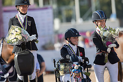 Hext Suzanne, GBR, Schmidt Claudia, GER, Frances Orford Erin, GBR<br /> FEI European Para Dressage Championships - Goteborg 2017 <br /> © Hippo Foto - Dirk Caremans<br /> 22/08/2017,