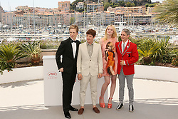 Actress Elle Fanning, director John Cameron Mitchell, Actors Alex Sharp and AJ Lewis attending the 'How To Talk To Girls At Parties' photocall during the 70th annual Cannes Film Festival on May 21, 2017 in Cannes, France. Photo by David Boyer/ABACAPRESS.COM