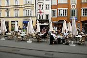 Austria, Tyrol, Innsbruck Outdoor cafe