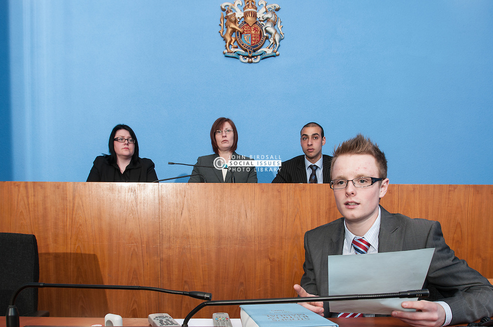 Clerk of the Court sits in front of Magistrates' in Sheffield