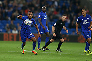 Loic Damour of Cardiff city in action.  EFL Skybet championship match, Cardiff city v Leeds Utd at the Cardiff city stadium in Cardiff, South Wales on Tuesday 26th September 2017.<br /> pic by Andrew Orchard, Andrew Orchard sports photography.