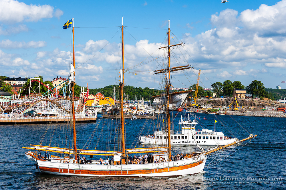 Sweden, Stockholm. Gr'ona Lund Tivoli.