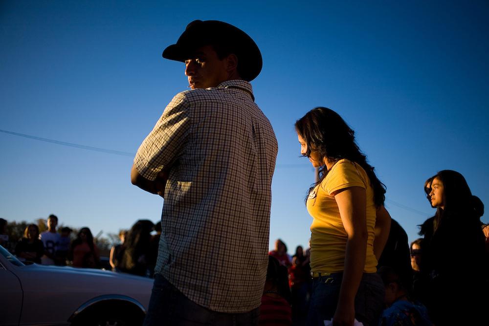 The Dia de los Muertos parade in Albuquerque also known as the marigold parade 2009.