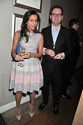 SAMUEL & NAJET JOAB attend the MARC Restaurants Truffle Dinner hosted by Marlon & Nadya Abela at Cassis, 232-236 Brompton Road, London on 13th February 2013.