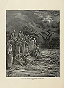 Crusaders on the Nile Plate LXXIV from the book Story of the crusades. with a magnificent gallery of one hundred full-page engravings by the world-renowned artist, Gustave Doré [Gustave Dore] by Boyd, James P. (James Penny), 1836-1910. Published in Philadelphia 1892