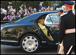 Image ©Licensed to i-Images Picture Agency. 01/12/2016. London, United Kingdom. The Queen Visits Goodenough college. <br /> <br /> Queen Elizabeth II arrives at Goodenough College during a visit on December 1, 2016 in London, England.  Goodenough College is the leading residential community for British and international postgraduate students studying in London.<br /> <br /> Picture by i-Images / Pool