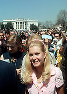 .Tricia Nixon on the South Lawn In April of 1971..Richard Nixon.Photograph by Dennis Brack ND