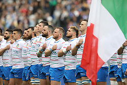 March 16, 2019 - Rome, RM, Italy - Italy Line up during the Six Nations International Rugby Union match between Italy and France at Stadio Olimpico on March 16, 2019 in Rome, Italy. (Credit Image: © Danilo Di Giovanni/NurPhoto via ZUMA Press)