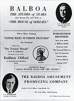 1917 Balboa Feature Film's full page ad in Motion Picture Magazine