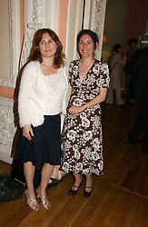 Left to right, ALEXANDRA SHULMAN and the MARCHIONESS OF NORMANBY at a party to celebrate the publication of 'A Much Married Man' by Nicholas Coleridge held at the ESU, Dartmouth House,  37 Charles Street, London W1 on 4th May 2006.<br /><br />NON EXCLUSIVE - WORLD RIGHTS
