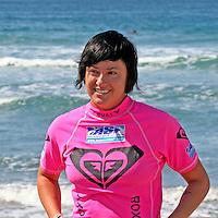 Summer Romero, 4th Place finalist winner of the the 3rd Annual Roxy Jam Linda Benson Women's World Longboard Professional, 2008, Cardiff by the Sea, California.
