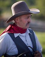 Photo Randy Vanderveen.Near Debolt, Alberta, July 22/08.Dale Thomson, a Peace Country cowboy and cowboy poet.
