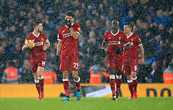 Liverpool's Dominic Solanke shows his frustration after his side concede during the Premier League match at Anfield, Liverpool.