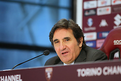 January 5, 2018 - Turin, Piedmont, Italy - Urbano Cairo, president of Torino FC, officially presented Walter Mazzarri as the club's new head coach during the press conference at Olympic Grande Torino Stadium on 05 January, 2018 in Turin, Italy. (Credit Image: © Massimiliano Ferraro/NurPhoto via ZUMA Press)