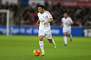 Jefferson Montero of Swansea city in action. Barclays Premier league match, Swansea city v West Bromwich Albion at the Liberty Stadium in Swansea, South Wales  on Boxing Day Saturday 26th December 2015.<br /> pic by  Andrew Orchard, Andrew Orchard sports photography.
