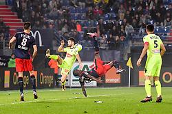 October 14, 2017 - Caen, France - 03 Yoann ANDREU (sco) - 13 Christian KOUAKOU (caen) - RETOURNE ACROBATIQUE (Credit Image: © Panoramic via ZUMA Press)