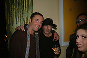 DAVID LACHAPELLE AND RON ARAD, Party for David LaChapelle and Ron Arad given by Ivor Braka. Cadogan sq. London. 10 October 2007. -DO NOT ARCHIVE-© Copyright Photograph by Dafydd Jones. 248 Clapham Rd. London SW9 0PZ. Tel 0207 820 0771. www.dafjones.com.