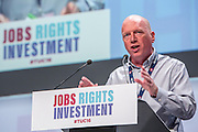 Matt Wrack of the FBU speaking at the TUC congress 2016, Brighton. UK.