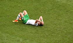 Stephen Ward of Republic of Ireland reacts to the loss  - Mandatory by-line: Joe Meredith/JMP - 26/06/2016 - FOOTBALL - Stade de Lyon - Lyon, France - France v Republic of Ireland - UEFA European Championship Round of 16