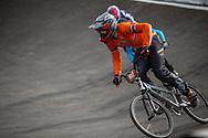 16 Boys #247 (VAN BURGSTEDEN Bo) NED at the 2018 UCI BMX World Championships in Baku, Azerbaijan.
