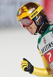 29.12.2015, Schattenbergschanze, Oberstdorf, GER, FIS Weltcup Ski Sprung, Vierschanzentournee, Bewerb, im Bild Noriaki Kasai (JPN) // Noriaki Kasai of Japan reacts after his 2nd Competition Jump of Four Hills Tournament of FIS Ski Jumping World Cup at the Schattenbergschanze, Oberstdorf, Germany on 2015/12/29. EXPA Pictures © 2016, PhotoCredit: EXPA/ JFK