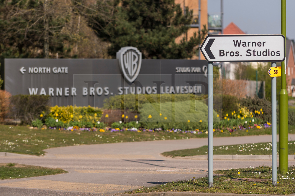 © Licensed to London News Pictures. 26/03/2020. WATFORD, UK.  A general view of the entrance to Warner Bros. Studios in Leavesden, Hertfordshire, just outside London, home to the Harry Potter, Fantastic Beasts and recent Mission Impossible movies.  Work on productions has all but ceased due to the coronavirus pandemic.  Workers in the industry comprise mainly the self-employed (from cameramen to background artistes) and later today Rishi Sunak, Chancellor of the Exchequer, is due to launch a financial support plan for them and members of the self employed in other industries.  Photo credit: Stephen Chung/LNP
