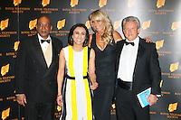 Raj Basram; Anita Rani; Celia Sawyer; Peter Ratcliffe, The Royal Television Society Programme Awards, Grosvenor House Hotel, London UK, 18 March 2014, Photo by Richard Goldschmidt