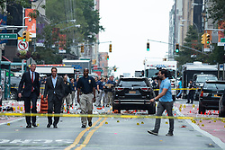 September 18, 2016 - New York, NY, United States - New York State Governor Andre Cuomo and New York City Mayor Bill de Blasio toured the site of the bomb explosion on West 23rd Street between Sixth and Seventh Avenues in Manhattan's Chelsea neighborhood, and then stopped at various local businesses to greet proprietors and residents. (Credit Image: © Albin Lohr-Jones/Pacific Press via ZUMA Wire)