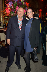 JEAN PIGOZZI and CLEMENTINE CRAWFORD at the Tatler Magazine's Kings & Queens party held at Savini at Criterion, Piccadilly, London on 1st June 2016.