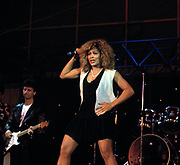Tina Turner  at the Live Aid Concert at J.F.K. Stadium in Philadelphia on 13th July 1985.