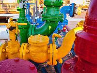 Fuel pipe manifold, Kodiak, Alaska