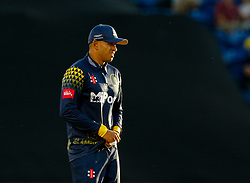 Glamorgan's Usman Khawaja in action today <br /> <br /> Photographer Simon King/Replay Images<br /> <br /> Vitality Blast T20 - Round 8 - Glamorgan v Gloucestershire - Friday 3rd August 2018 - Sophia Gardens - Cardiff<br /> <br /> World Copyright © Replay Images . All rights reserved. info@replayimages.co.uk - http://replayimages.co.uk