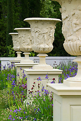 Giant Borghese urns in the Laurent-Perrier Garden.