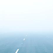 Fog on highway