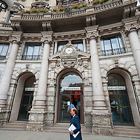 Milan (Italy) The Italian Stock Exchange in Milan on the day when a wave of nerves ran through Europe's financial markets Tuesday, sending share prices and the euro lower, while bolstering core European government bonds. <br /> <br /> <br /> ***Agreed Fee's Apply To All Image Use***<br /> Marco Secchi /Xianpix<br />  tel +44 (0) 207 1939846<br />  e-mail ms@msecchi.com <br /> www.marcosecchi.com