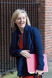 London, November 06 2017. Chief Secretary to the Treasury Liz Truss in Downing Street visiting the Prime Minister's official residence at No. 10. © Paul Davey