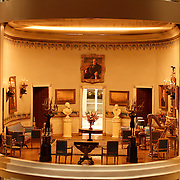 A scale model of the real White House is on display at the Reagan Library in Simi Valley, California. This is the Blue Room.